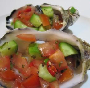 Spicey Gazpacho Oysters