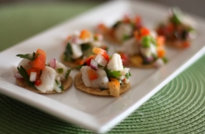 ceviche-on-crackers