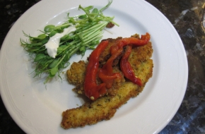 crumbed-nanngai-with-grilled-peppers